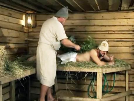 Колхозница в бане 152